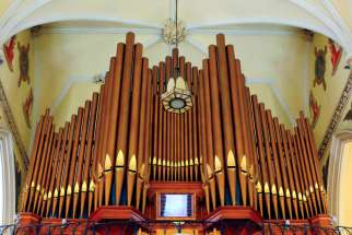 The pipe organ at St. Mary's Cathedral in Kingston, Ont.