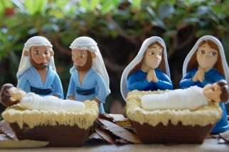The gay Joseph and lesbian Mary Nativity scenes available as ornaments and cards by Zazzle.com sparked protests by a British Christian interest group.