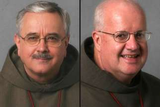 After 19 years as the head of the Interfaith Affairs office at the Archdiocese of Toronto, Fr. Damian MacPherson, left, will be replaced by Nova Scotia-born Fr. Tim MacDonald Feb. 1.