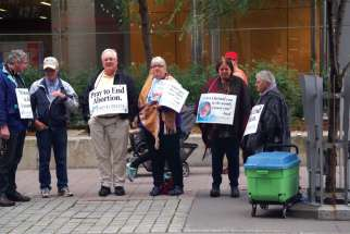 The 40 Days for Life vigil in 2017 was the last to pray across the street from the Morgentaler clinic before the bubble zone law came into effect in February.