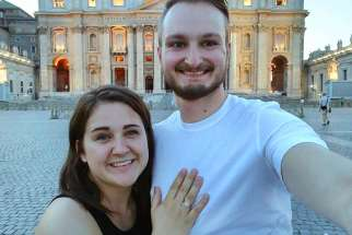 """My now-fiancé and I travelled to Europe last summer and on a sweaty Roman day, after a four-hour Vatican tour, he got down on one knee in St. Peter's Square and proposed."""