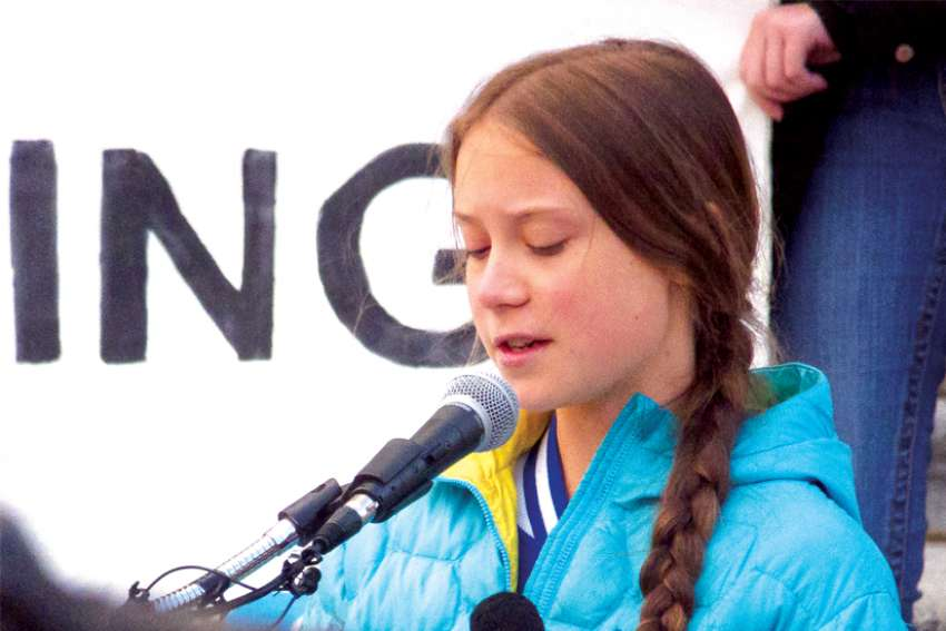 Greta Thunberg addressed a rally in Edmonton in October.