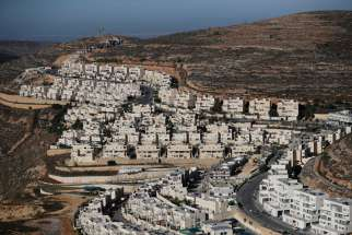 The construction of the Israeli settlement of Ramat Givat Zeev is seen Nov. 19, 2019, in the occupied West Bank. The Vatican reiterated its call for a two-state solution in the Holy Land after U.S. Secretary of State Mike Pompeo announced that the United States would no longer recognize the illegality of Israeli settlements in the West Bank.