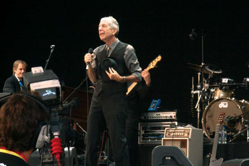 Leonard Cohen performs in 2008 in Benicàssim, Spain.