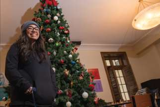 Daiana Barboza, a youth worker at Covenant House in Toronto, says the shelter for homeless youth tries to make Christmas as family-like as it can for the youth it serves.