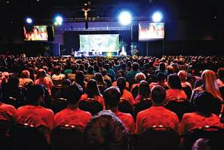 Steubenville conferences attract thousands of students to their summer events. Funds collected from Mass at the Toronto conference will be donated to Catholic Missions In Canada.