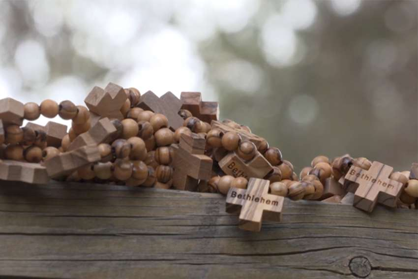 Olive wood rosaries made in Bethlehem for World Youth Day pilgrims in Panama.