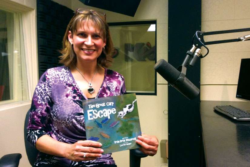 Irish Beth Maddock is helping organizations raise money with her children's book The Great Carp Escape.