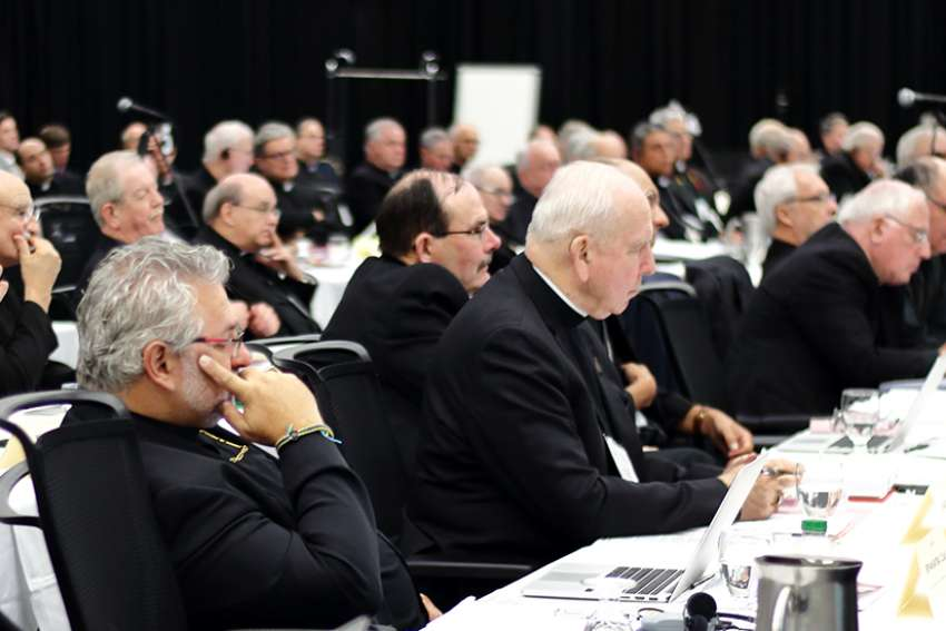 "CCCB President Bishop Lionel Gendron told his brother bishops that in light of the abuse scandal, ""it is better to expose works of darkness and bring them to light."""