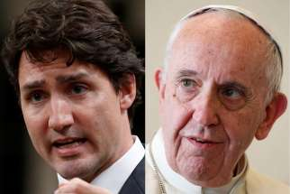 Prime Minister Justin Trudeau is set to meet Pope Francis at the Vatican May 29.