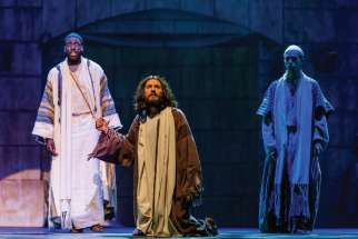 Peter and Jesus in a scene from the 2017 Passion Play.
