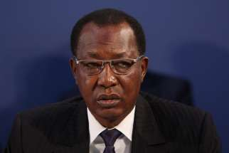 President Idriss Deby of Chad at the London Conference on The Illegal Wildlife Trade, 13 February 2014.