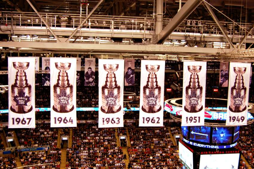 Banners hang from Scotiabank Arena in Toronto that tell the tale of the former glory of the Toronto Maple Leafs. When another banner will be hoisted is uncertain at best.