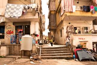 The Odesho's Syrian relatives have been living, along with hundreds of thousands of refugees, in Beirut. The Christian refugees are crowded into the poor Aytiryya neighbourhood of the city (above). Lebanon, a country of just 4.5 million is host to 1.2 million refugees.