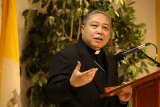 The papal nuncio to the United Nations, Archbishop Bernardito Auza, said that religious leaders are often in the best position to persuade violent religious extremists towards peace.