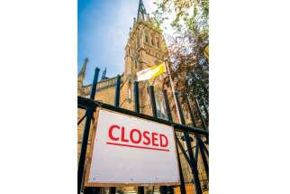 St. Michael's Cathedral in downtown Toronto has been closed due to safety concerns. Construction renovations at the cathedral are cited for the closure.