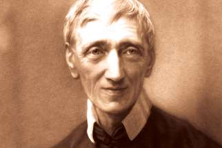Blessed John Henry Newman is seen in a portrait provided by the Catholic Church in England and Wales.