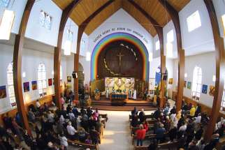 Sacred Heart First Peoples Church serves the Indigenous community in Edmonton.