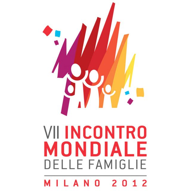 This is the logo for the 2012 World Meeting of Families in Milan, Italy, May 30-June 3. Pope Benedict XVI, who will attend the event for three days, is expected to use the occasion to bolster the importance of marriage and family built on Christian values.