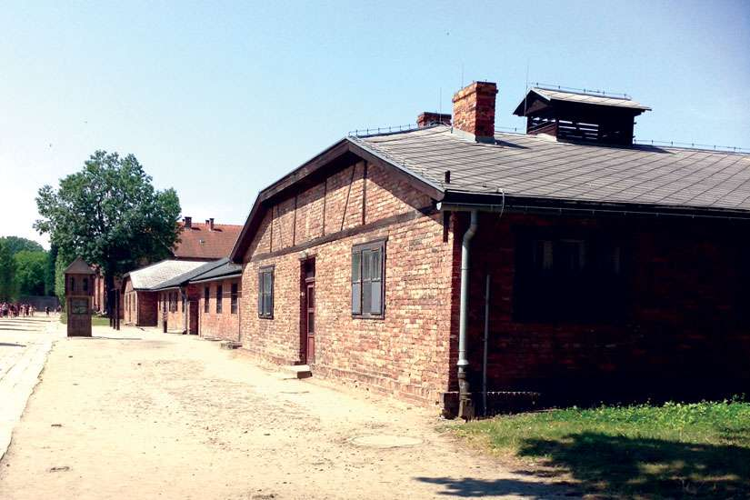 Touring the gas chambers helped Emily Barber absorb the somber reality that is the Holocaust.