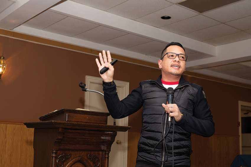 Vlad Mamaradlo, a lay pastoral associate at St. Joseph the Worker Parish in Thornhill, Ont., had some pointers for young people when talking about their faith.