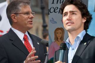 Conservative MP Mark Warawa, pictured left, blasted Liberal leader Justin Trudeau May 27 for failing to condemn the practice of sex-selection or gendercide abortion.