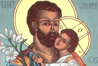 St. Joseph and the child Jesus.