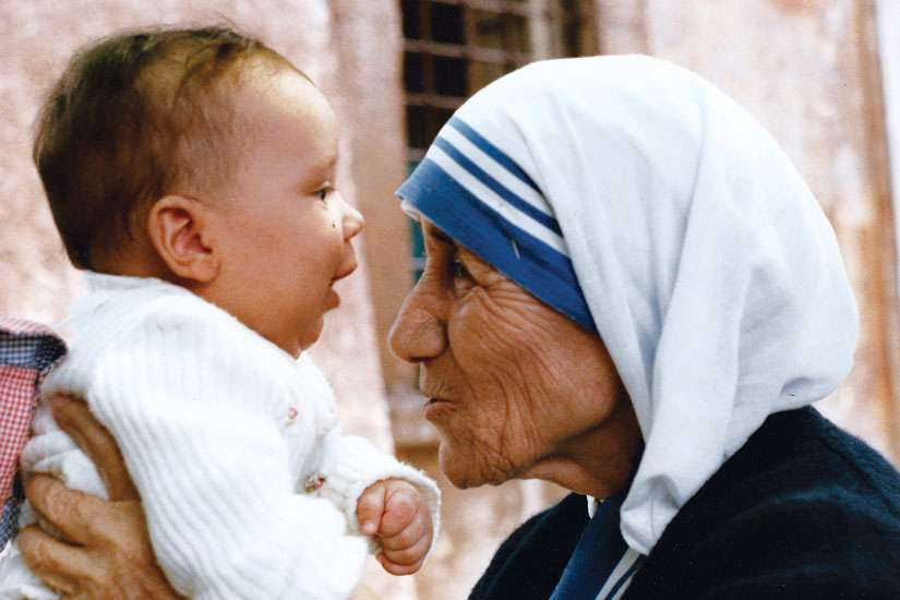 Mother Teresa during her 1985 visit to Canada. Teresa of Calcutta becomes a saint on Sept. 4.