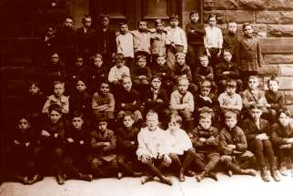 A class of boys from Toronto's St. Paul's Elementary School in 1912.