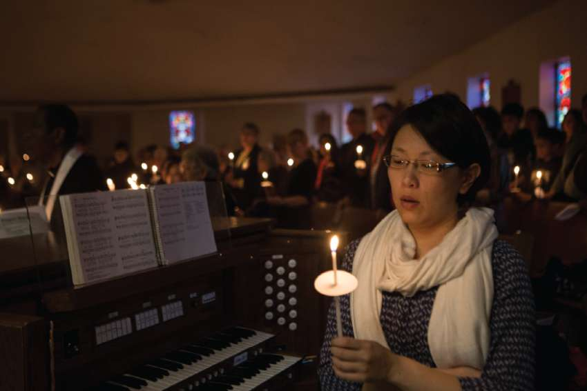 Hundreds gathered at St. Edward the Confessor Church for an April 26 prayer service for the victims of the van attack on Yonge Street.