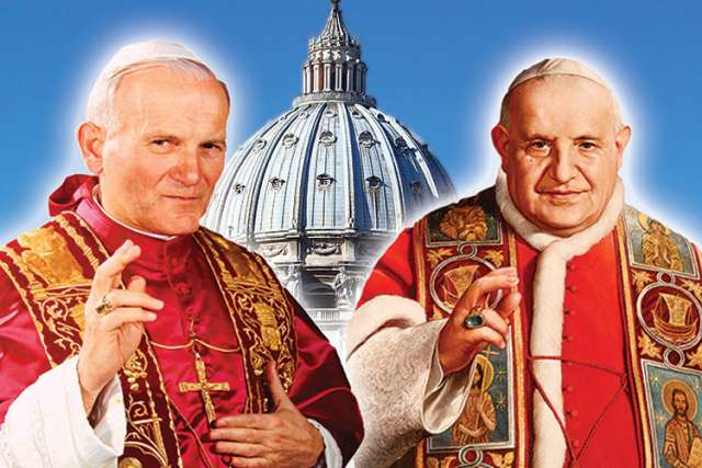 Two popes, two saints