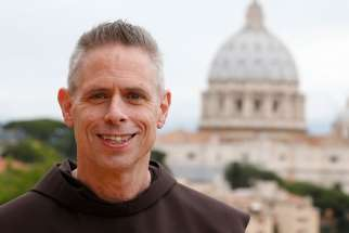 Delegates to the general chapter of the Franciscans elected U.S. Franciscan Father Michael Perry to a six-year term as head of the order after he had served in the role for two years. He is pictured in a 2013 photo in Rome.