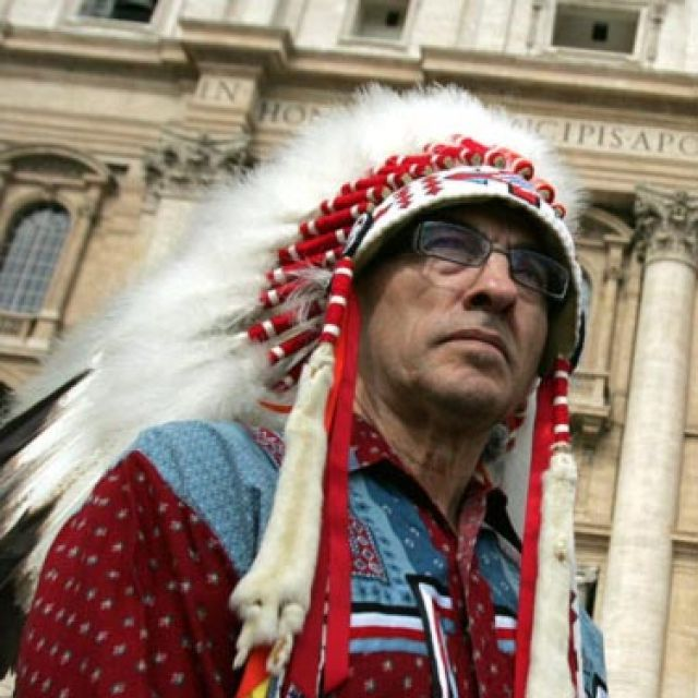 Phil Fontaine, former leader of the Assembly of First Nations, seen at the Vatican in 2009, has it wrong when he says the canonization of St. Kateri is an apology to native peoples.