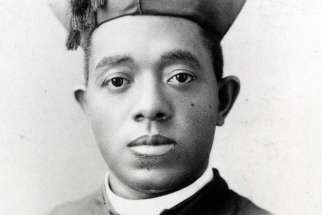 Father Augustus Tolton, the first recognized U.S. diocesan priest of African descent, is pictured in an undated photo. Pope Francis advanced his sainthood June 11 by recognizing that he lived a life of heroic virtue. (CNS photo/courtesy of Archdiocese of Chicago Archives and Records Center)
