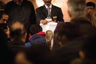 More than 13,000 people are estimated to have descended on St. Francis Xavier Church in Mississauga, Ont., for the relic of the parish's patron saint.