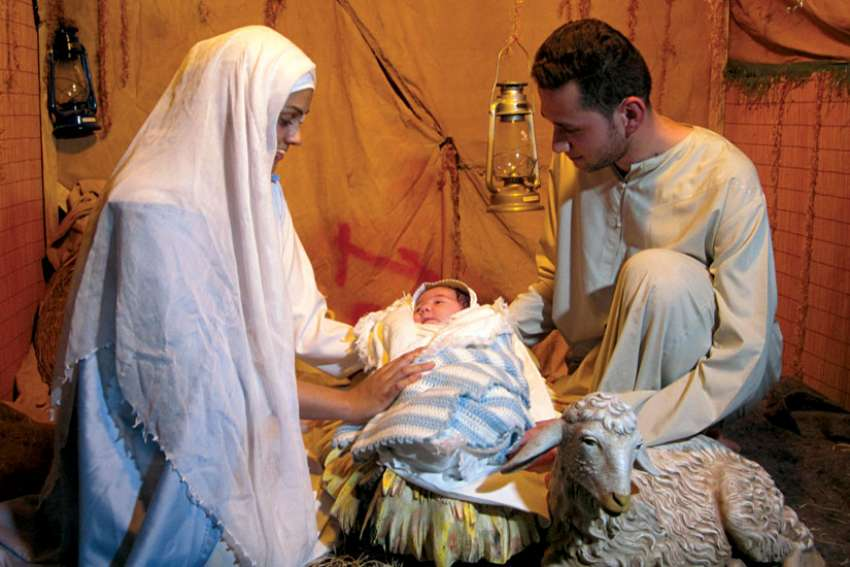 Advent allows us to focus on the hope and promise of new life in Christ. Here, Iraqi refugees re-enact the Nativity.