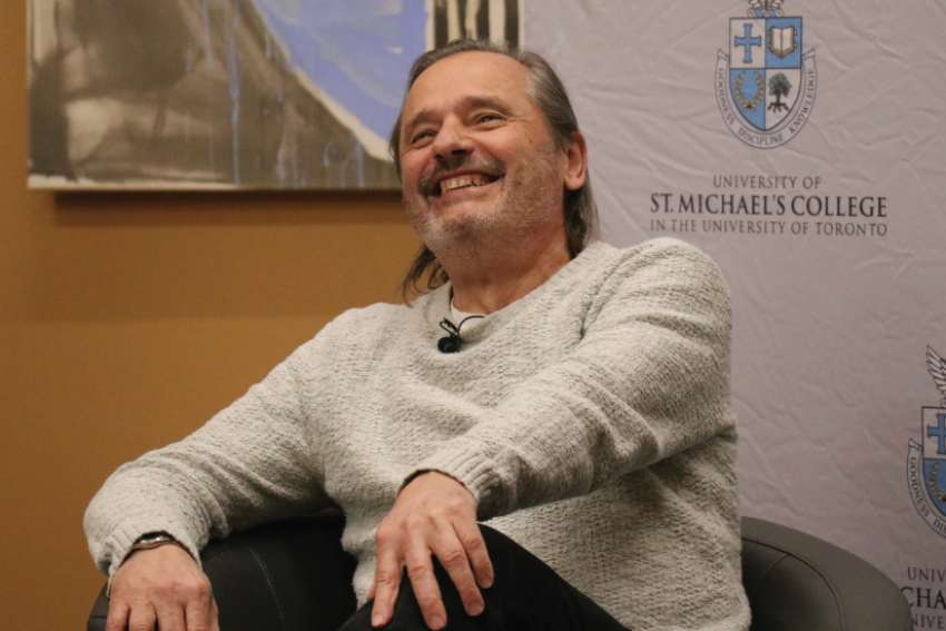 Sitting with an intimate crowd of people at University of St. Michael's College, Malarek shared how his life experiences in a shattered home, then in the Quebec child welfare system informed his crusade against institutionalization.