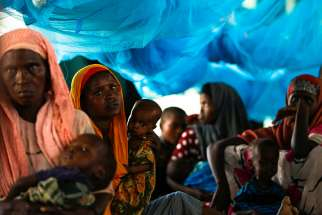 Somali refugees are seen after arriving in 2011 at a camp in Dadaab, Kenya. In Dadaab, the world's largest refugee complex in northeast Kenya, Somali refugees are facing the question of whether to return to their homeland or stay and risk being forced to move if the Kenyan government closes the camp.