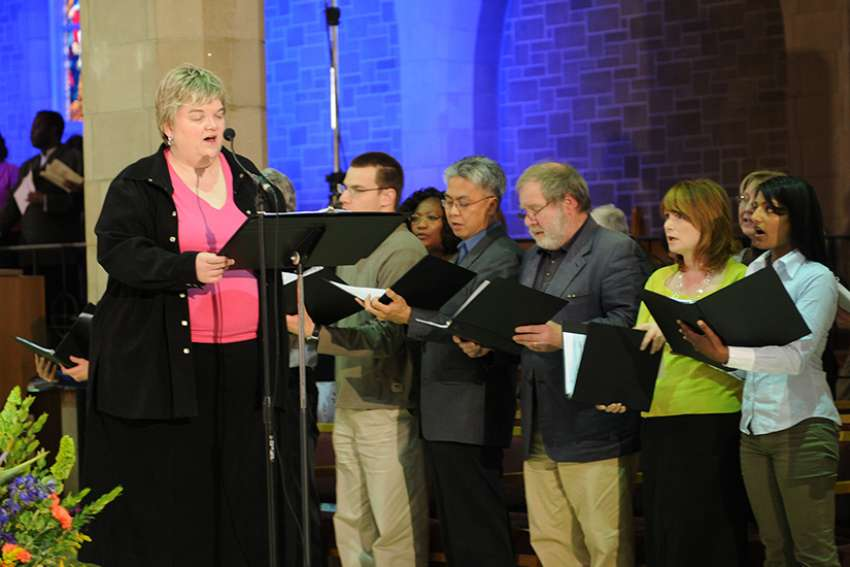 Karen Koester of Edmonton is one of seven members of a bishops' advisory board that has been working on a new hymnal for Canadian churches that would replace the Catholic Book of Worship.