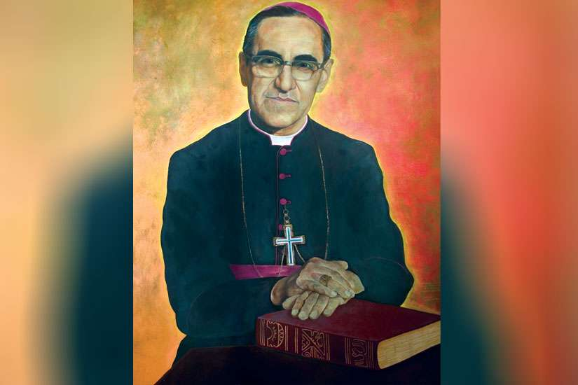 This painting of Salvadorean Archbishop Oscar Romero is located in the lower level of the Cathedral of San Salvador.