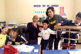 Maria Montemayor volunteered at a children's rehab centre run by the Siervas sisters in Peru.