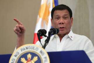 """What we are against are issues, not the person,"" Archbishop Socrates Villegas of Lingayen-Dagupa said of Philippines' president Rodrigo Duterte April. 4."