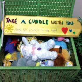 A treasure chest of toys awaits children at the Safe Centre of Peel.