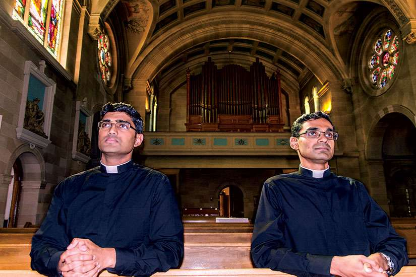The Alemão brothers, 29-year-old Favin (left) and 33-year-old Ryan, will officially be ordained as priests May 13.