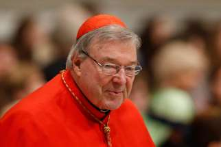 Australian Cardinal George Pell, prefect of the Vatican Secretariat for the Economy, in St. Peter's Basilica Jan. 1, 2016. An Australian broadcaster has discovered that the cardinal is facing new allegations of abuse.
