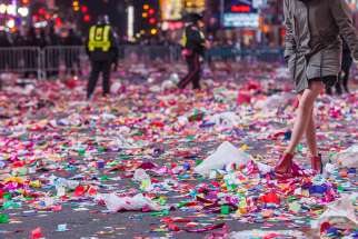 New Year's Eve aftermath in New York City 2015.
