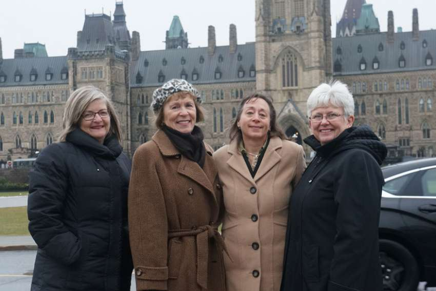 CWL delegation to Ottawa Nov. 27-30 included, from left, resolutions chair Joan Bona, president-elect Anne-Marie Gorman, legislation chair Nancy Simms and president Margaret Ann Jacobs.