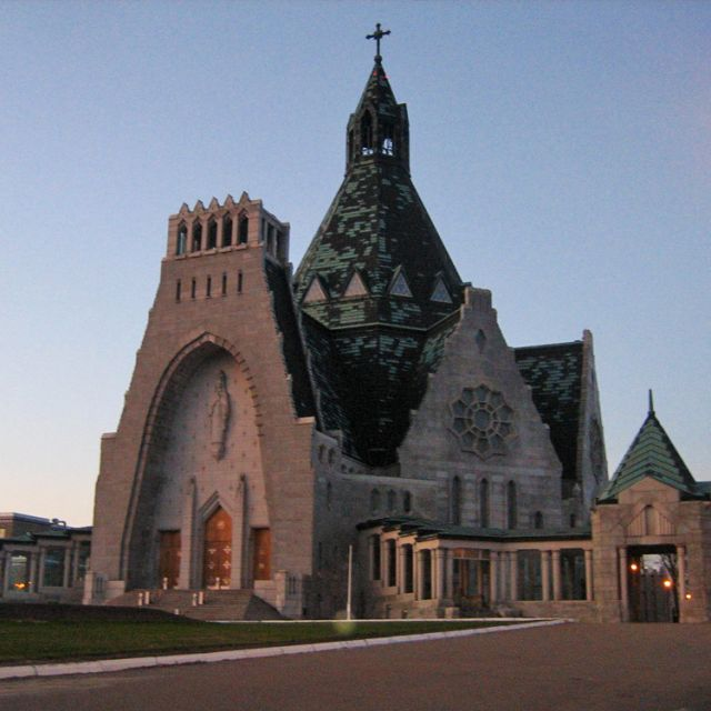 "The most famous Catholic heritage site in the second ""authentic Quebec"" region is the basilica at Our Lady of the Cape Shrine in Trois Rivières."