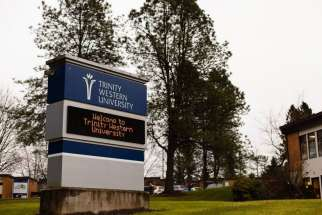 An undated photo of Trinity Western University in Langley, B.C. The Nova Scotia Barristers' Society decided to not appeal the province's appeal court decision demanding the Society to accredit the evangelical Christian university.
