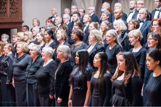 The Pax Christi Chorale and Orchestra, under artistic director and conductor Stephanie Martin. She will revive the Judith oratorio for a performance May 3 at Toronto's Koerner Hall.